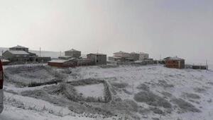 Tokatın Halaçlı köyünde mevsimin ilk karı