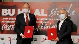 Türk Kızılay Coca Colanın 3,5 milyon liralık yardımını depremzedelere ulaştıracak