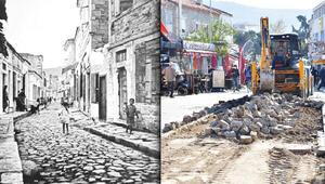 İzmir Foça'daki kara taş efsanesine kepçe