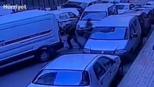 İstanbul'da kendisine çarpan sürücüye kurşun yağdıran maganda kamerada
