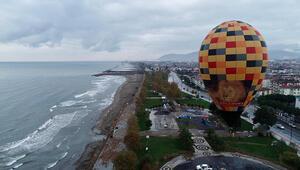 Ordu turizmi için sıcak hava balonu test edildi