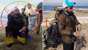 Akıllara durgunluk veren olay Rüzgara kapılan Türk paraşütçü Lübnan'a indi…