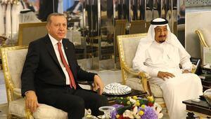 Cumhurbaşkanı Recep Tayyip Erdoğan, Kral Selman ile görüştü