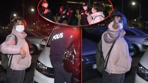 Maske denetimi yapan polise tepki gösterdi: Ne sanıyorlar bunlar kendini dedi
