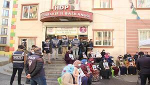 HDP önündeki eylemde 446ncı gün; aile sayısı 176 oldu