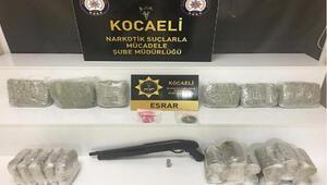 Kocaeli'de 11 kilo 900 gram esrar ele geçirildi
