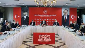 İçişleri Bakanı Süleyman Soylu, Beyoğlu Güvenlik Toplantısına katıldı