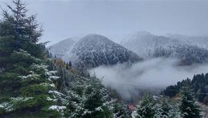 Rizede kar yağışı yüksek kesimlerde etkili oluyor