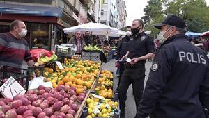 Korona virüs temaslı pazarcı kardeşler satış yaparken yakalandı