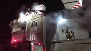 Ümraniye'de yangın paniği Mahsur kalanlar kurtarıldı