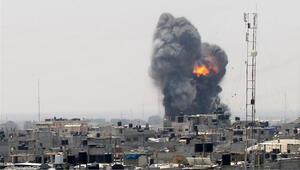 İsrail ordusu savaş uçakları Gazzeyi bombaladı