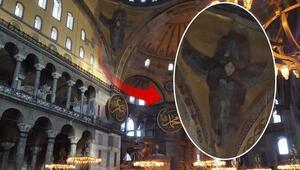 Ayasofya'da dev iskele 7 yıl sonra kaldırıldı Serafim Melekleri de yıllar sonra göründü