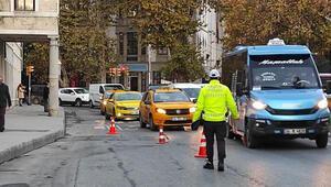 Beyoğlunda toplu taşıma araçlarına koronavirüs denetimi