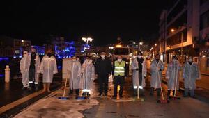 Amasyada cadde ve sokaklar dezenfekte ediliyor
