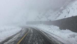 Artvinde, Macahel Geçidinde kar kalınlığı 30 santimetreye ulaştı
