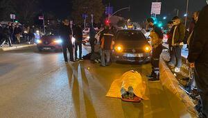 Otomobilin çarptığı 2 kadın böyle ambulans bekledi
