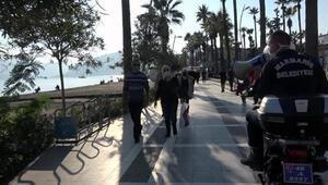 Marmariste sahillerdeki kalabalığa megafonlu uyarı