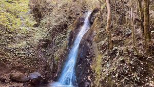 Ormanın içindeki gizli cennet Aydınpınar Şelalesine dört mevsim ziyaretçi akını
