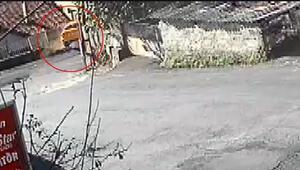 Son dakika... Sarıyerde feci kaza Taksi evin bahçesine girdi, şoför yaralandı