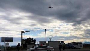 Muğlada helikopterle trafik denetiminde sürücülere ceza
