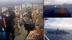 Son dakika haberleri... Türk gemisine hukuk dışı arama Alman fırkateyni, gemiyi Doğu Akdenizde durdurdu