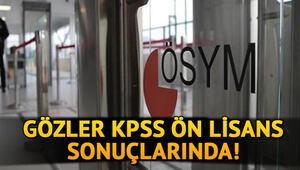 KPSS önlisans sonuçları ne zaman açıklanacak, bugün açıklanır mı KPSS 2020 sonuçları sorgulama