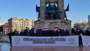 Taksimde 24 Kasım Öğretmenler Günü töreni