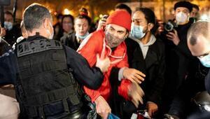Fransada polis ile mülteciler arasında arbede