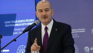Son dakika... İçişleri Bakanı Soylu: Kadına vuracağına kendine vur