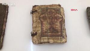 Araçta 7 adet ceylan derisine yazılı Tevrat ve İncil ele geçirildi