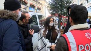 Kadın turist, polislere zor anlar yaşattı