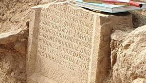 Bursada 1500 yıllık kitabe bulundu