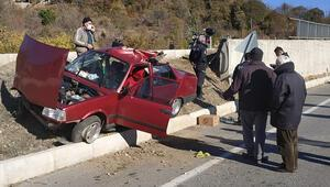 Sivasta otomobil takla attı: 4 yaralı