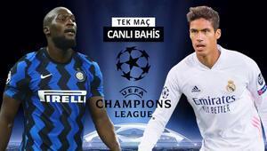 Real Madridde kritik eksikler Interin galibiyetine verilen iddaa oranı...