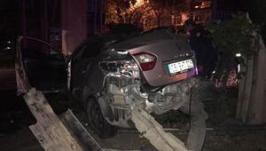 Başkentte bariyer kazası: 2 yaralı