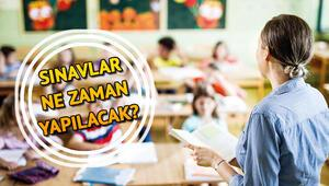 Okullarda sınavlar ne zaman yapılacak 1. dönem yazılı sınavlarla ilgili MEBten açıklama