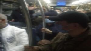 Görüntü çeken yolcuya böyle tepki gösterdiler