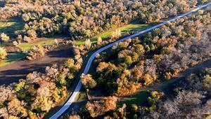 Kızılırmak Deltası Kuş Cennetinde sonbahar manzaraları