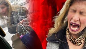 Aksarayda kadın müşterinin, taksiciye yaşattığı zor anlar kamerada