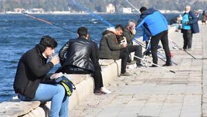 İzmir sahilinde koronavirüs önlemleri unutuldu