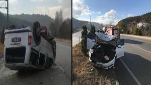 Karabükte kaza: 1i çocuk 3 yaralı