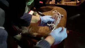 Otomobilde maskeye gizlenmiş uyuşturucu bulundu