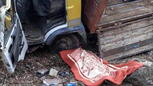 Adıyamanda kamyon devrildi; sürücü öldü, kardeşi yaralı