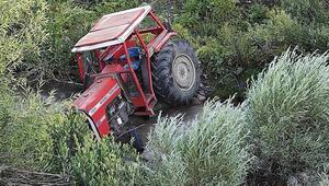 Aydında devrilen traktörün sürücüsü öldü