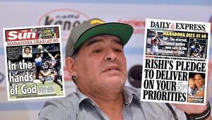 Son Dakika | İngilizlerden skandal Maradona manşetleri