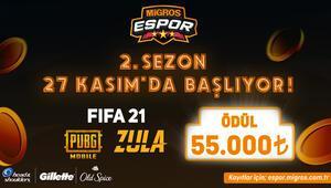 Migros E-Spor Turnuvasında ikinci sezon heyecanı