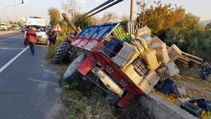 Traktör devrildi; Suriyeli 2 tarım işçisi yaralandı