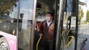 Karantinada olması gerekirken sefer yaparken yakalandı Otobüs şoföründen pes dedirten sözler
