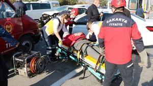 Sakaryada karantinadan çıktı, kontrol için hastaneye giderken kazada yaralandı