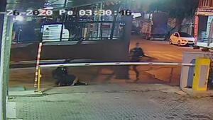 Bekçilerin dikkati hırsızlığı önledi... O anlar kamerada